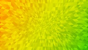 Abstract background of small triangles. In yellow and green colors Royalty Free Illustration
