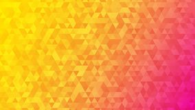 Abstract background of small triangles. In yellow and pink colors royalty free illustration