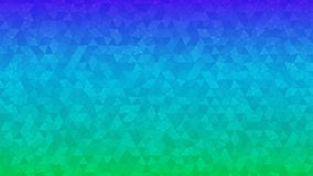Abstract background of small triangles. In blue and green colors Vector Illustration
