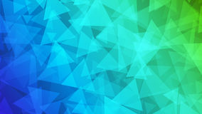 Abstract background of small triangles. In green and blue colors Stock Photography