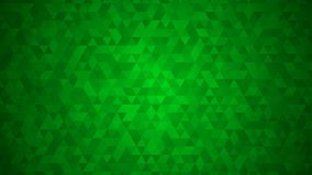 Abstract background of small triangles. In green colors Royalty Free Illustration