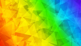 Abstract background of small triangles. In rainbow colors Stock Images