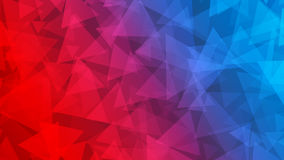 Abstract background of small triangles. In red and blue colors Stock Photography