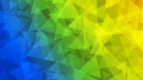 Abstract background of small triangles. In yellow, green and blue colors Royalty Free Stock Photo