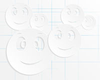 Abstract background of smiles Stock Photo