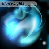 Abstract background. Smoke, haze on background of blurred lights blue Royalty Free Stock Images