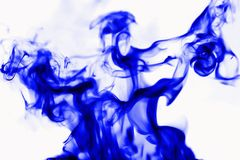 Abstract background, smoke on a white background. Blue smoke on white background, abstract background. Isolated Stock Photos