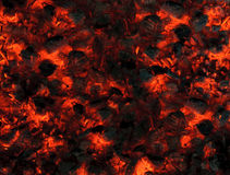 Abstract background of smoldering wood coals Royalty Free Stock Photo