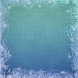 Abstract background with snowflake Royalty Free Stock Images