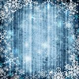 Abstract background with snowflake Royalty Free Stock Photos
