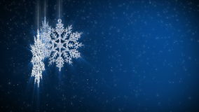 Abstract background snowflake stock video footage