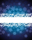 Abstract background with snowflakes Royalty Free Stock Image