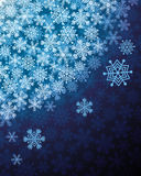 Abstract background with snowflakes Royalty Free Stock Photos