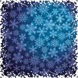 Abstract background with snowflakes Royalty Free Stock Images