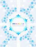Abstract background with snowflakes. Stock Photography