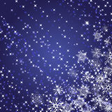 Abstract background with snowflakes in blue colour Stock Photos