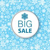 Abstract background with snowflakes. Christmas discount, abstract background with snowflakes Royalty Free Stock Photo