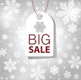 Abstract background with snowflakes. Christmas discount, abstract background with snowflakes Stock Image