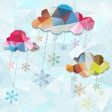 Abstract background with snowflakes. EPS 10. Abstract background with clouds and snowflakes. EPS 10 Royalty Free Stock Photo