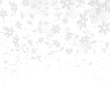 Abstract background with snowflakes Stock Image