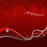 Abstract background with snowflakes, lines. And Merry Christmas text Stock Image