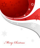 Abstract background with snowflakes, lines. And Merry Christmas text Stock Photo