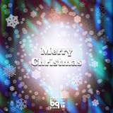 Abstract background snowflakes Merry Christmas. Background snowflakes. Merry Christmas illustration. Circle rainbow. Bokeh effect. Multicolor gradient stock illustration