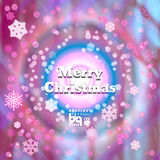Abstract background snowflakes Merry Christmas. Background snowflakes. Merry Christmas illustration. Circle rainbow. Bokeh effect. Multicolor gradient vector illustration