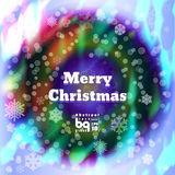 Abstract background snowflakes Merry Christmas. Background snowflakes. Merry Christmas illustration. Circle rainbow. Bokeh effect. Multicolor gradient royalty free illustration