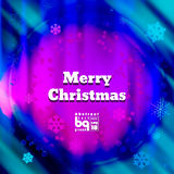 Abstract background snowflakes Merry Christmas. Background snowflakes. Merry Christmas on multicolor gradient background. Vector illustration. Bokeh effect royalty free illustration