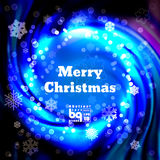 Abstract background snowflakes Merry Christmas. Background snowflakes. Merry Christmas on multicolor gradient background. Vector illustration. Bokeh effect vector illustration