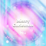 Abstract background snowflakes Merry Christmas. Background snowflakes Merry Christmas, multicolored gradient, bokeh effect, Vector illustration, rainbow flash stock illustration