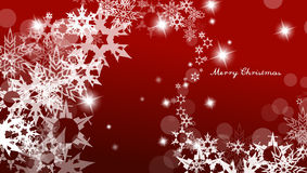 Abstract background with snowflakes and Merry Christmas text. Horizontal version stock illustration
