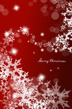 Abstract background with snowflakes and Merry Christmas text. Vertical version royalty free illustration