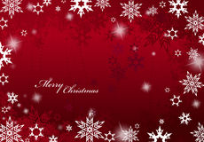 Abstract background with snowflakes and Merry Christmas text. Wide screen version vector illustration