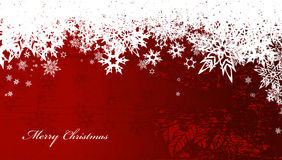Abstract background with snowflakes and Merry Christmas text Stock Images