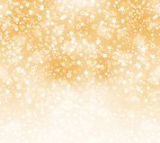Abstract background with snowflakes, stars. And blur boke Stock Images