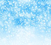 Abstract background with snowflakes, stars Stock Photo