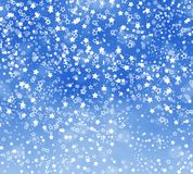 Abstract background with snowflakes, stars. And blur boke Stock Photo