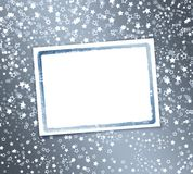 Abstract background with snowflakes, stars. And blur boke Royalty Free Stock Photo