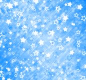 Abstract background with snowflakes, stars. And blur boke Stock Photos