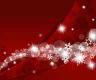 Abstract background with snowflakes. Stock Photos