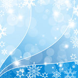 Abstract background with snowflakes. Vector Stock Image