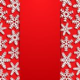 Abstract background with snowflakes Stock Images