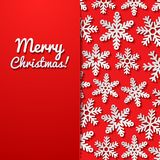 Abstract background with snowflakes Stock Photography