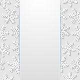 Abstract background with snowflakes. Vector illustration Stock Images