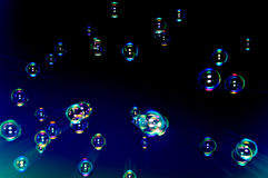 Abstract background of soap bubbles. Royalty Free Stock Photo