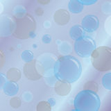 Abstract background with soap bubbles Stock Images