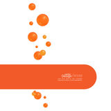 Abstract background with  soap bubbles. Abstract background wit orange soap bubbles and semicircular banner with space for text Stock Photography