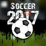 Abstract background soccer 2017. Grunge background. Vector illustration royalty free illustration